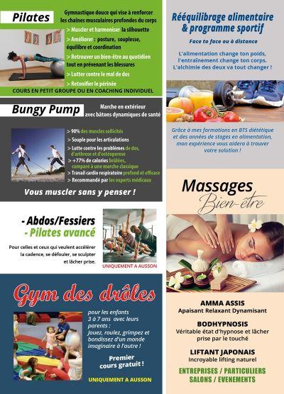Sianna SPORT : MASSAGE (à la salle Sianna Sport à Ausson, entre Tarbes et Saint Gaudens, particuliers, entreprises, salons, évènements)